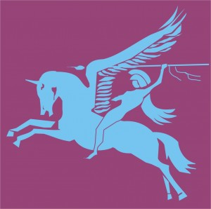 The British Airborne Units' logo, one of the few public domain images of a winged unicorn.